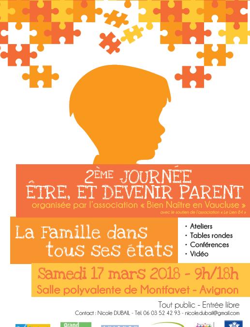 Programme de la Journée de la Parentalité le 17 Mars 2018 à Montfavet